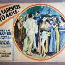 FX21 Farewell To Arms GARY COOPER/A MENJOU Lobby Card