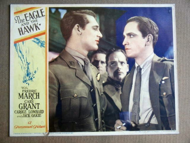 FZ10 Eagle & Hawk CARY GRANT/FREDRIC MARCH Lobby Card