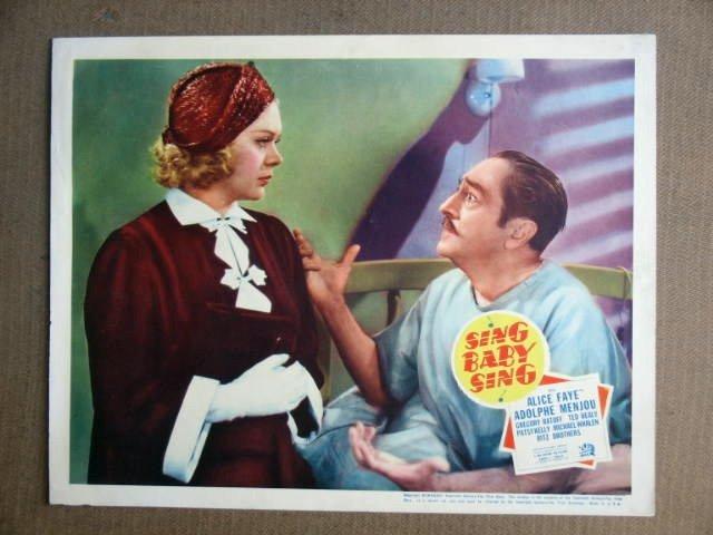 FU40 Sing Baby Sing ALICE FAYE/A MENJOU 1936 Lobby Card