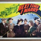 FV29 Next Time I Marry LUCILLE BALL 1937 Lobby Card