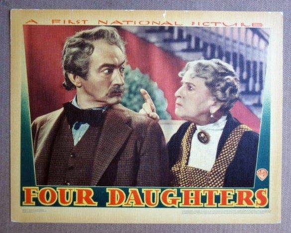 FR17 Four Daughters CLAUDE RAINS 38 Portrait Lobby Card