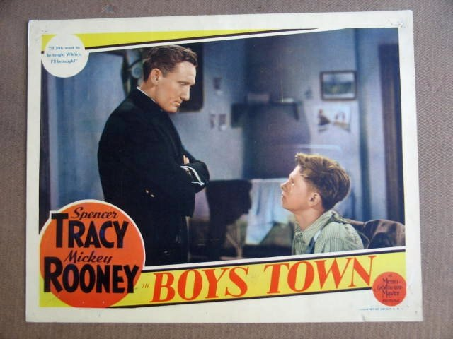 FX15 Boys Town MICKEY ROONEY/TRACY Portrait Lobby Card