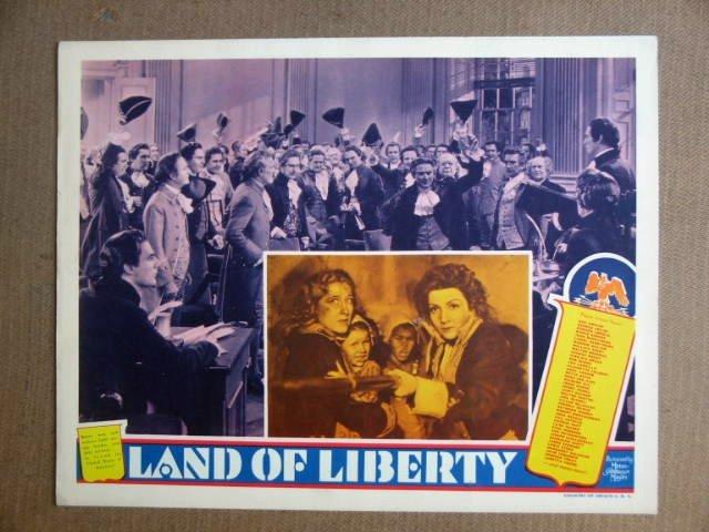 FU27 Land Of Liberty CLAUDETTE COLBERT1939 Lobby Card