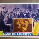 FU27 Land Of Liberty CLAUDETTE COLBERT1939 Lobby Card