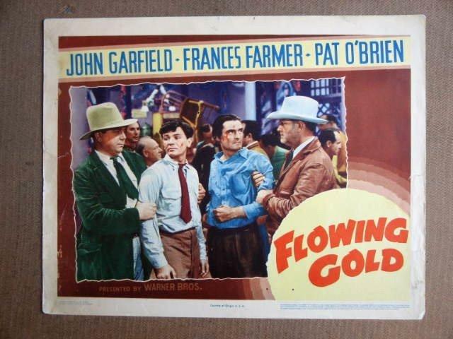FU19 Flowing Gold JOHN GARFIELD Orig 1940 Lobby Card