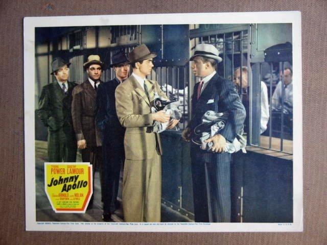 FU24 Johnny Apollo TYRONE POWER/LLOYD NOLAN Lobby Card