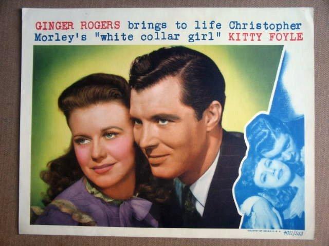 GC34 Kitty Foyle GINGER ROGERS Portrait Lobby Card
