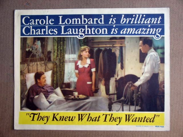 FT45 THEY KNEW WHAT THEY WANTED CAROLE LOMBARD Lobby card