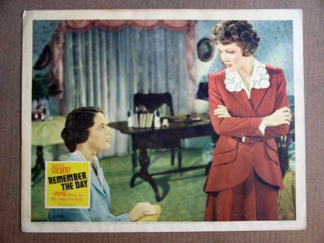 FW35 Remember The Day CLAUDETTE COLBERT/TODD Lobby Card