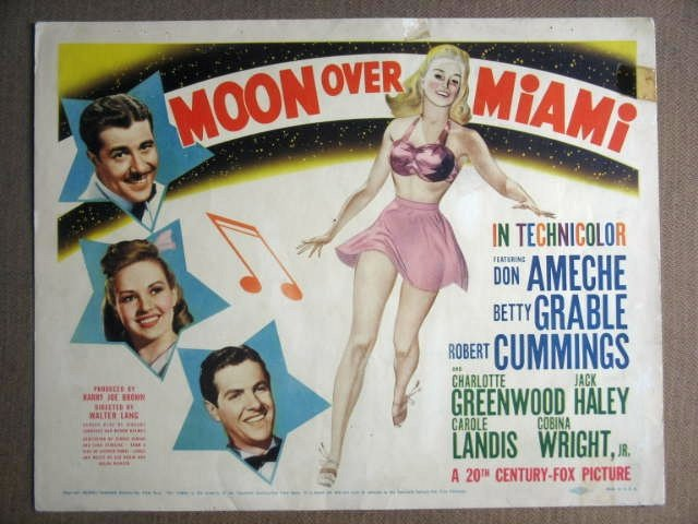 GB43 Moon Over Miami BETTY GRABLE Title Lobby Card