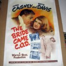 FT02 THE BRIDE CAME COD BETTE DAVIS/JAMES CAGNEY ONE SHEET POSTER