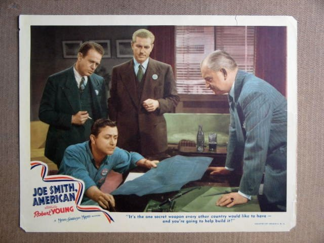 FR25 Joe Smith American ROBERT YOUNG 1942 Lobby Card