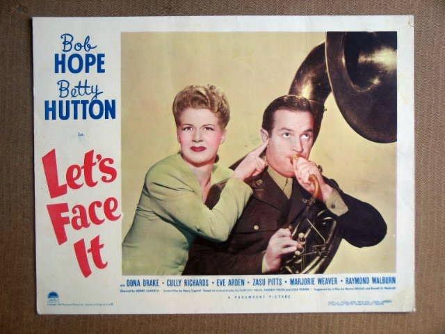 FS28 Let's Face It BETTY HUTTON/BOB HOPE Lobby Card