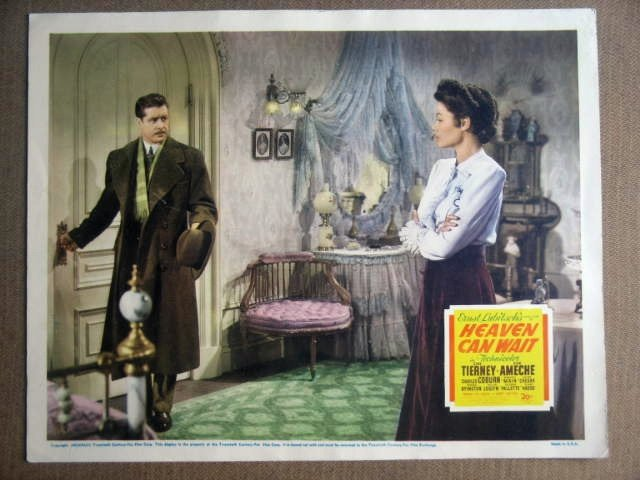 GA35 Heaven Can Wait GENE TIERNEY/DON AMECHE Lobby Card