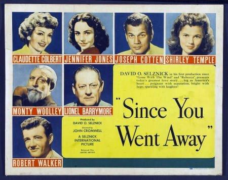 FT01 SINCE YOU WENT AWAY Shirley Temple/Jennifer Jones HALF SHEET Poster