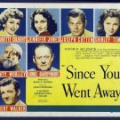 FT01 SINCE YOU WENT AWAY Shirley Temple/Jennifer Jones HALF SHEET Poster