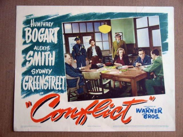 FV05 Conflict HUMPHREY BOGART/ALEXIS SMITH Lobby Card