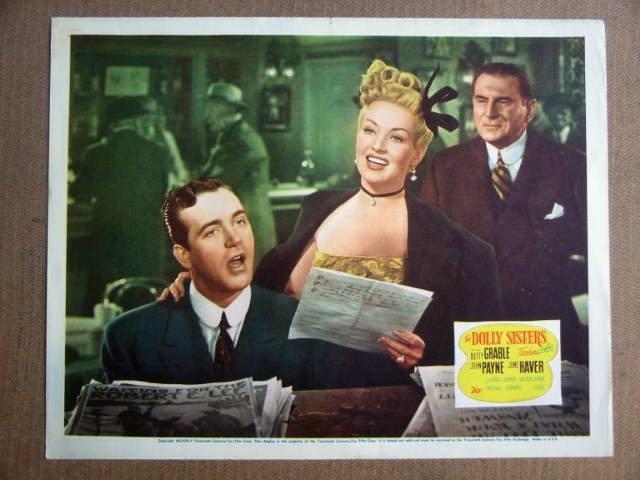 FV10 Dolly Sisters BETTY GRABLE/JOHN PAYNE Lobby Card