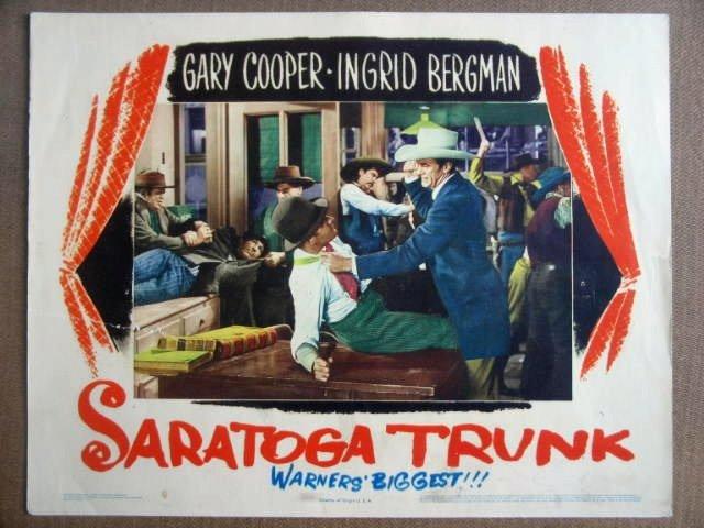 GI36a Saratoga Trunk INGRID BERGMAN/COOPER Lobby Card