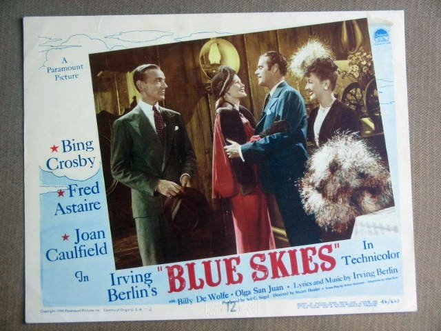 FZ07 Blue Skies FRED ASTAIRE/JOAN CAULFIELD Lobby Card