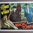 FU31 Magic Town JAMES STEWART/JANE WYMAN Lobby Card