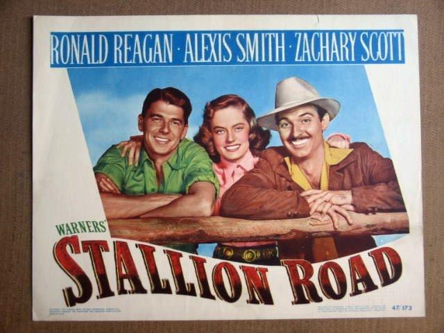 FW41 Stallion Road RONALD REAGAN Portrait Lobby Card