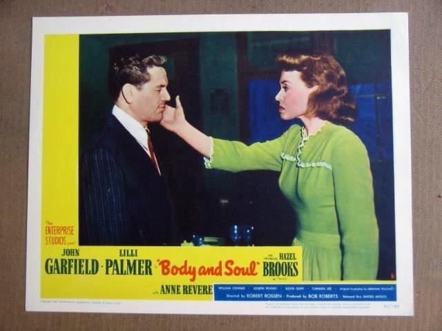 FX14 Body & Soul JOHN GARFIELD 1947 Portrait Lobby Card