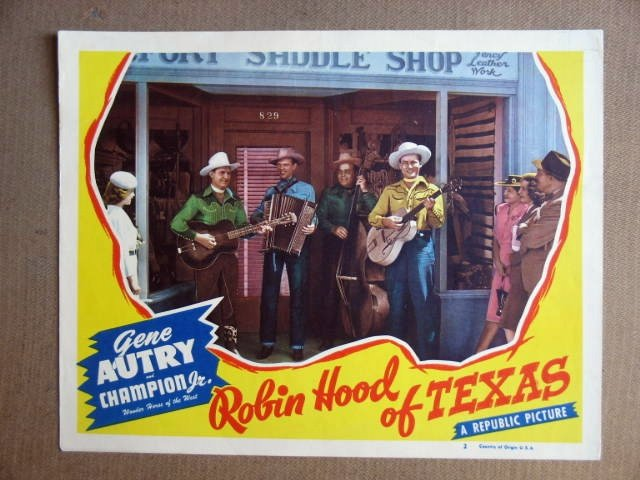 FT34 ROBIN HOOD OF TEXAS GENE AUTRY Lobby card