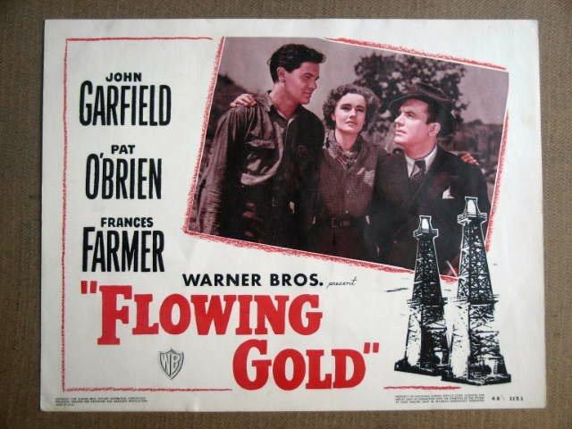FV13 Flowing Gold JOHN GARFIELD/FRAN FARMER Lobby Card
