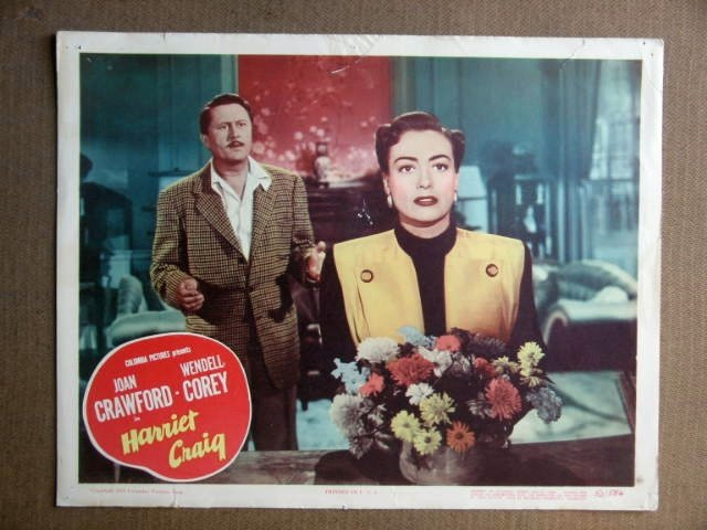 FR12 Harriet Craig JOAN CRAWFORD Orig 1950 Lobby Card