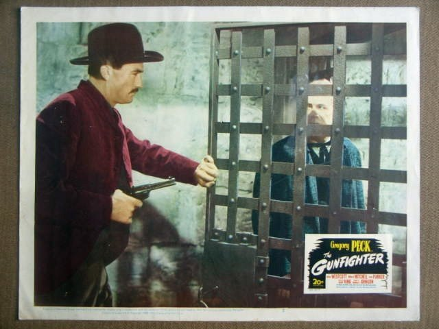 GI17 Gunfighter GREGORY PECK 1950 Lobby Card