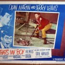 GI44 That's My Boy JERRY LEWIS/DEAN MARTIN Lobby Card