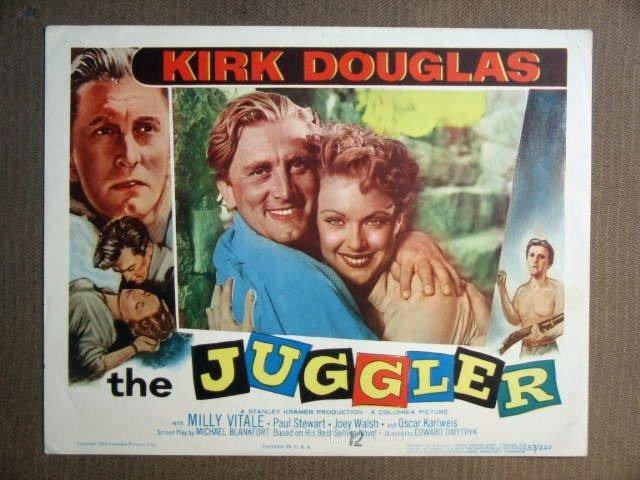 FS24 Juggler KIRK DOUGLAS Original Portrait Lobby Card