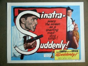 FW42 Suddenly FRANK SINATRA Title Lobby Card FILM NOIR
