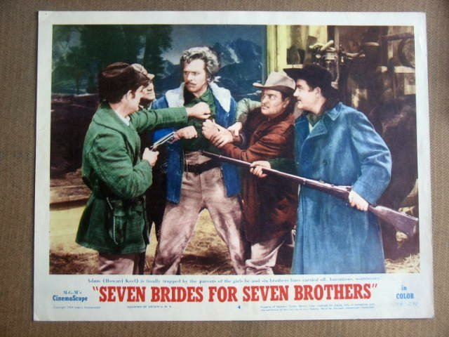 FY28 7 Brides For 7 Brothers HOWARD KEEL '54 Lobby Card