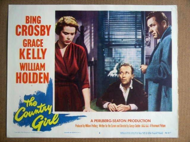 GB30 Country Girl GRACE KELLY/CROSBY/HOLDEN Lobby Card