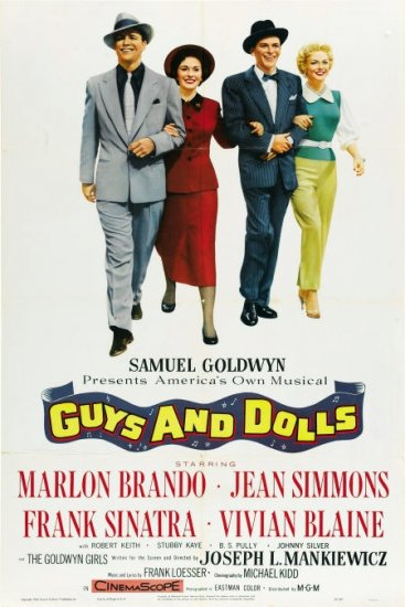 FS01 Guys Dolls MARLON BRANDO/SINATRA One Sheet Poster