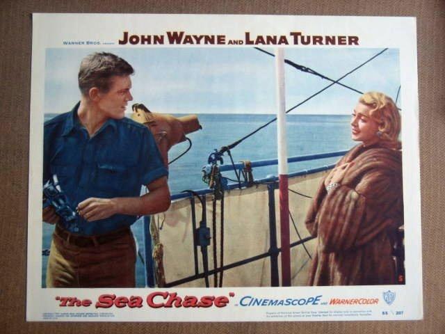 FY27 Sea Chase LANA TURNER/TAB HUNTER Lobby Card