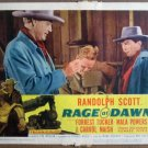 GI32 Rage At Dawn RANDOLPH SCOTT 1955 Lobby Card