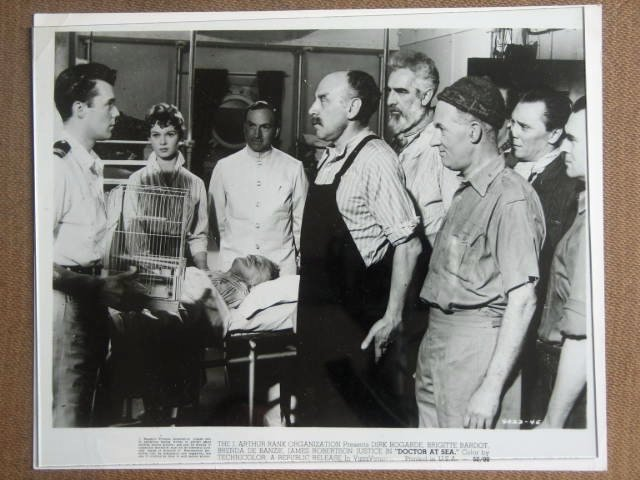 GF06 Doctors At Sea DIRK BOGARDE 3 Orig Studio Stills