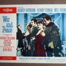FT50 WAR AND PEACE  AUDREY HEPBURN/ VITTORIO GASSMAN Lobby card