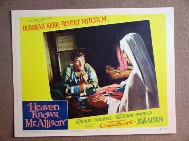 FS18 Heaven Knows ROBERT MITCHUM/DEBORA KERR Lobby Card