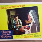 FS18 Heaven Knows ROBERT MITCHUM/DEBORA KERR Lobby Card