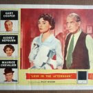 FY18 Love In Afternoon AUDREY HEPBURN 1957 Lobby Card