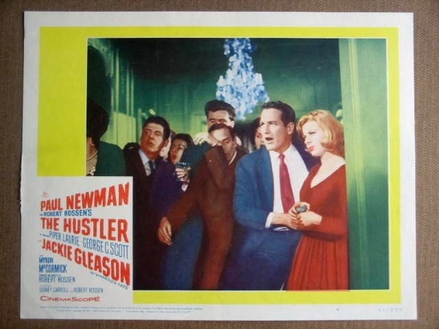 GA36 Hustler PAUL NEWMAN/PIPER LAURIE Lobby Card