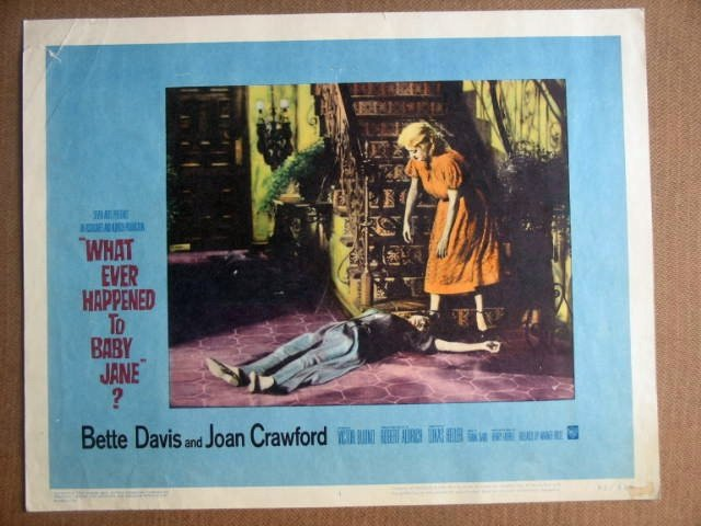 GB51 Baby Jane BETTE DAVIS/JOAN CRAWFORD Lobby Card