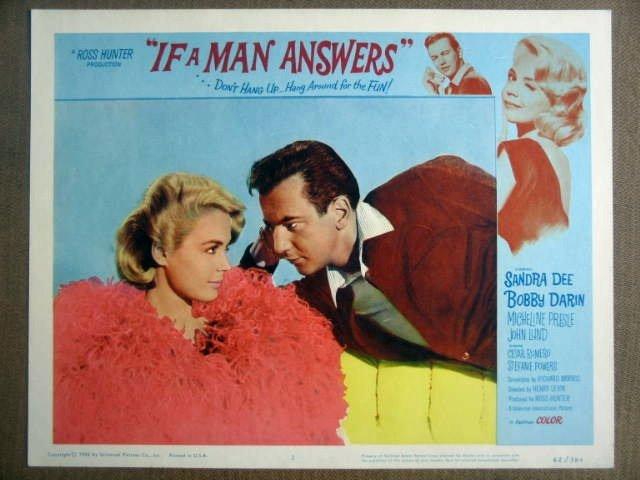 GI20 If A Man Answers SANDRA DEE/BOBBY DARIN Lobby Card