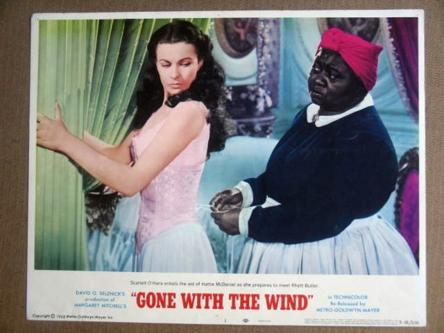 GD31 Gone With Wind VIVIEN LEIGH/McDANIEL Lobby Card