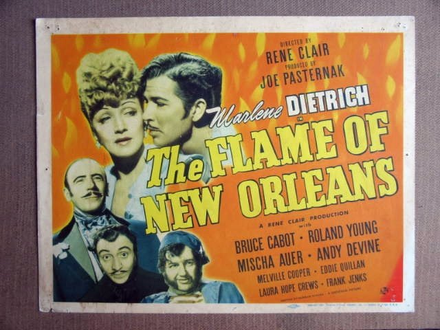 FP14 FLAME OF NEW ORLEANS Marlene Dietrich  Title Lobby Card