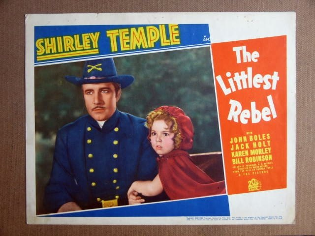 FP25 THE LITTLEST REBEL Original Shirley Temple Lobby Card
